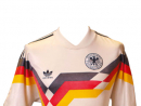 West Germany 1990This kit was worn in the 1990 World Cup Final, a 1-0 victory over Argentina. A niggly, dull affair, it's mostly remembered for a red card for Argentina's Pedro Monzon, the first ever in a World Cup Final. A second followed soon after when Gustavo Dezotti was also given his marching orders.www.vintagefootballshirts.com