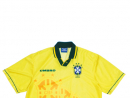 Brazil 1994Worn by the likes of Romario during the 1994 World Cup finals in America, Brazil beat Italy 3-2 in a penalty shootout to lift the World Cup, the fourth time they won the trophy.www.classicfootballshirts.co.uk