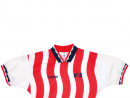 USA 1994It was the World Cup where America were the host nation and the team wore this candy-striped number, although they were knocked out in the second round by Brazil. www.classicfootballshirts.co.uk