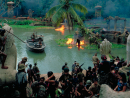 Apocalypse Now (1979)The most difficult movie to make ever must have been Apocalypse Now. Francis Ford Coppola may have suffered more than any other director on a single film shoot; to begin with, his original star Harvey Keitel, playing Captain Willard, who is entrusted with sailing up a dangerous Cambodian river at the height of the Vietnam war, was swiftly replaced with Martin Sheen. A typhoon then destroyed an important set, stalling production for eight costly weeks, and when Marlon Brando turned up to play the film's villain, Colonel Kurtz, he was vastly overweight and hadn't even learnt his lines. The trials of filming were capped off with Martin Sheen suffering a near-fatal heart attack on set, and Coppola struggling to find an ending to his mad vision. And it was all captured by his wife, Eleanor Coppola, in a documentary with the title Hearts of Darkness: A Filmmaker's Apocalypse. That's putting it lightly.
