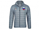 JACKET QR305It's not completely unrealistic to go to Russia to catch a game. And if you do, this grey jacket should keep you warm outside with the locals. www.eu.store.fifa.com.