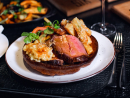 Saturday roast STK Doha is serving a traditional Saturday roast every Saturday starting January 11. For QR145 per person, you can choose from a spiced brisket, USDA prime rib eye or even a veggie wellington. All the dishes come with sides such as roasted potatoes, cauliflower gratin, green beans, buttered cabbage, carrots and, of course, Yorkshire pudding. The sauces include horseradish cream, English mustard and gravy.QR145. Sat 12.30pm-3.30pm. STK Doha, The Ritz-Carlton Doha, West Bay Lagoon (4484 8588).