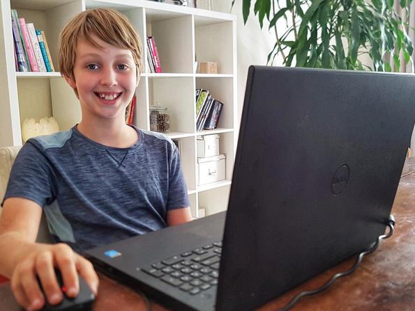 How ten-year-old Samuel Jones spends his home-schooling days in Qatar