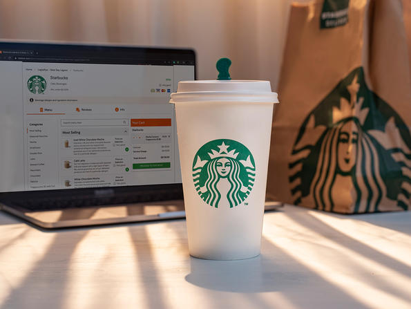 Get your Starbucks coffee delivered in Doha through Talabat