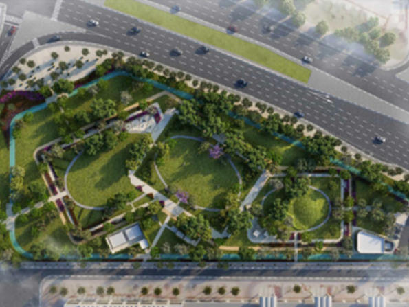 New park with running track being built in Doha