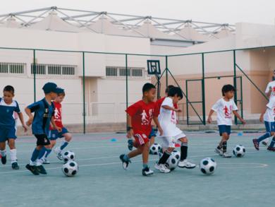 Kids football in Doha