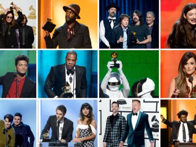 Grammy Awards big winners