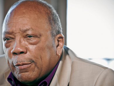 Quincy Jones in the hot seat