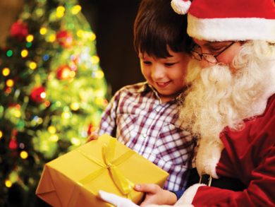 Father Christmas in Doha 2014