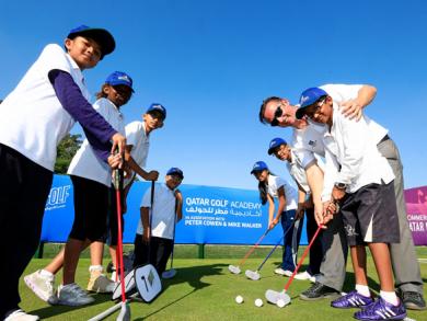 Kids golf in Doha