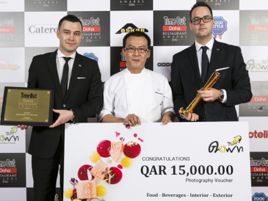 Time Out Doha Restaurant awards 2016 winners