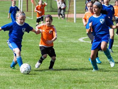 Girls' football in Doha
