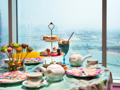 Disney dining at La Mer in Doha