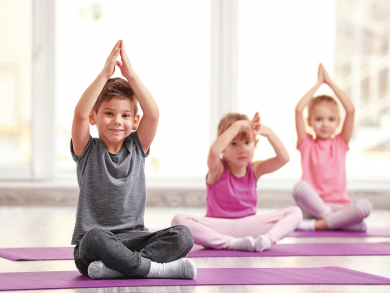 Sign up your kids for yoga in Doha