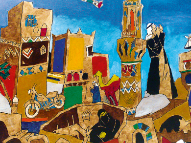 Famed painter M. F. Husain brings free exhibition to Doha