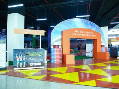 Take your kids to mini athletics at Doha Festival City