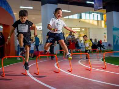 Things to do in Doha: Enroll the kids in the mini athletics championships for free