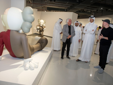 Things to do in Doha: Check out the KAWS exhibition