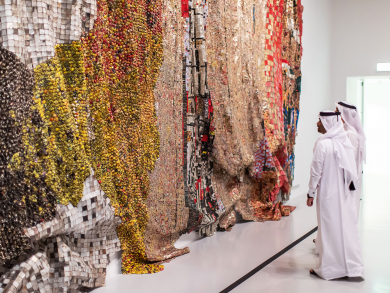 Things to do in Doha: Check out El Anatsui's exhibition