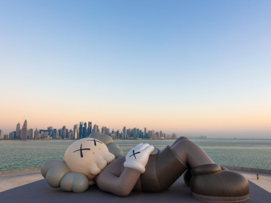 Check out KAWS' latest installation in Doha