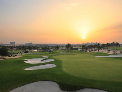 Participate in a golf tournament in Doha