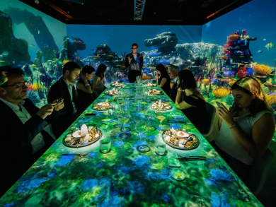 There's a new audio-visual dinner in Doha
