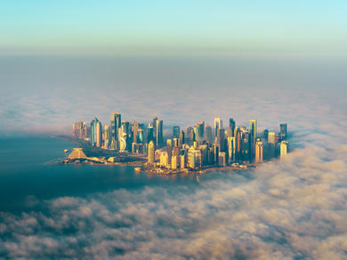 16 dreamy images of Qatar from the sky