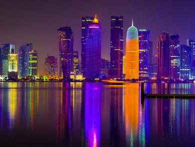 Six incredible images of Doha at night