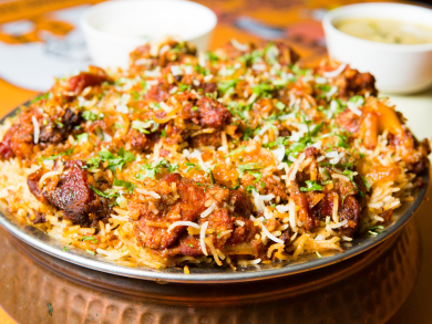 There's a biryani and kebab festival in Doha