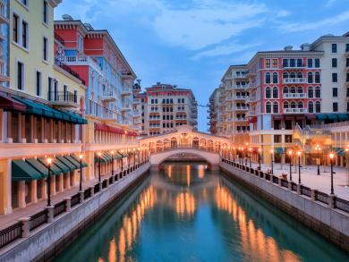 Beautiful images of Doha's Qanat Quartier
