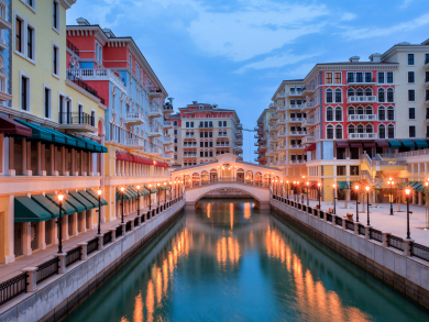 Beautiful images of Doha's Qanat Quartier