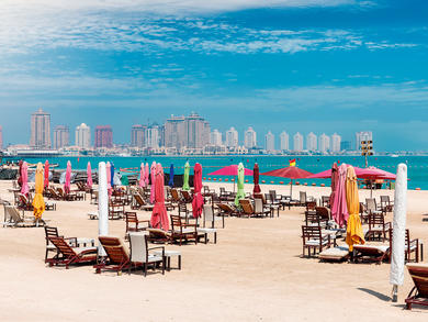 Doha's Katara beach now has an entrance fee