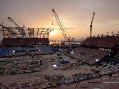 Qatar shares new snaps of Ras Abu Aboud Stadium